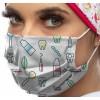 Máscara de tecido 3 dobras padrão dentistas (REUTILIZÁVEL)